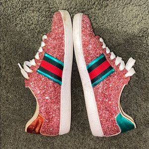 gucci glitter bowling sneakers